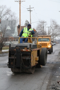 Division of Streets crews work to repair potholes throughout the City.