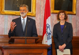 Mayor Jackson and Kathleen Falk