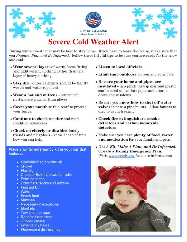 Severe Cold Weather Flyer