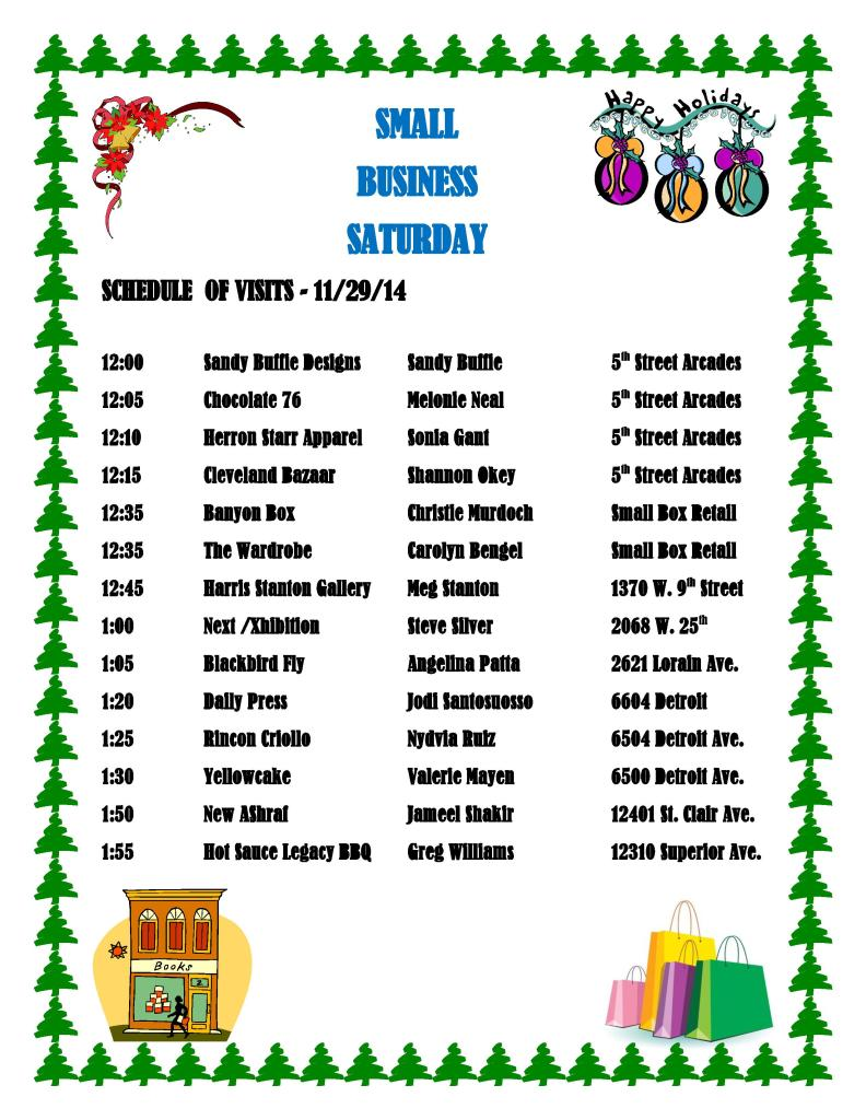 SMALL BUSINESS SATURDAY ITINERARY-page-001