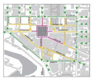 Public Square Traffic Reroute