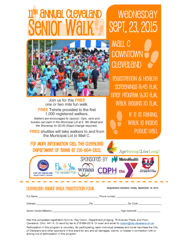 Senior Walk Flyer 2015