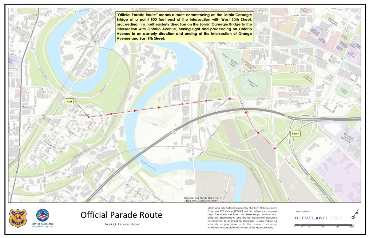 Official Parade Route