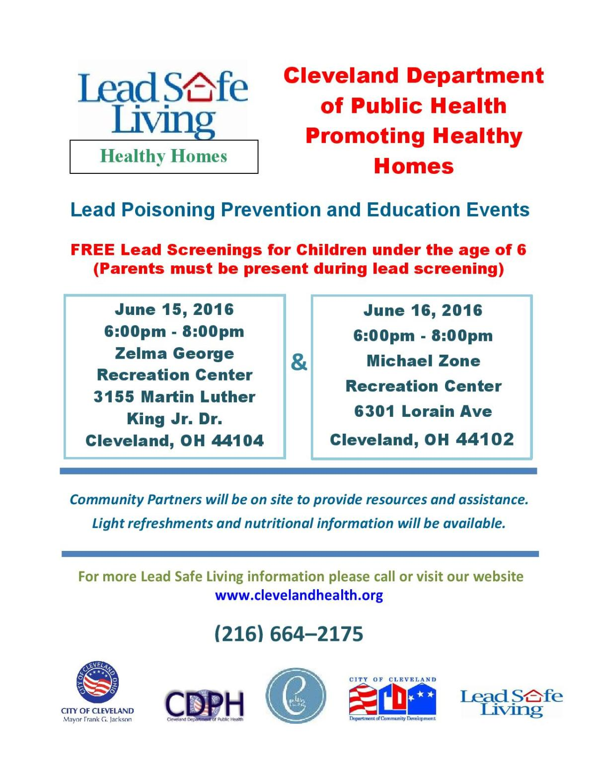 Lead Poisoning Prevention Education Events