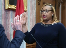 Ayonna Donald is sworn in as Director of Building and Housing.